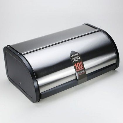 Consider this stainless steel bread box by Brabantia® for a contemporary and attractive way to store bread. Features a unique fingerprint proof finish matte finish for a clean polished look.