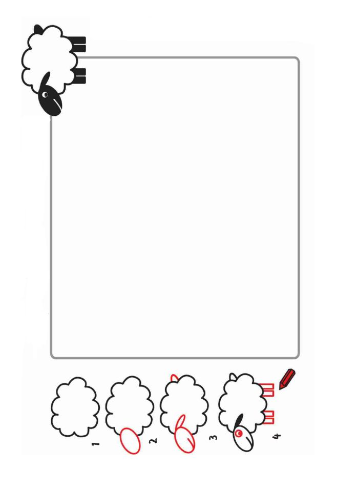 schaapje tekenen / cómo dibujar una oveja