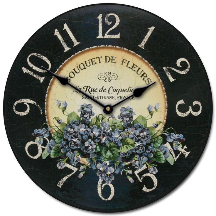 Forget Me Nots Floral Clock. Large wall clocks. Home Decor. Many Sizes Available. Starting at only $44.00 http://thebigclockstore.com/