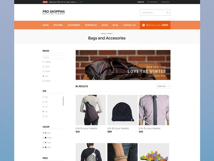 Ecommerce Listing Page by Vivek Ravin