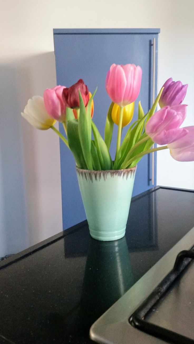 Tulips mixed colors