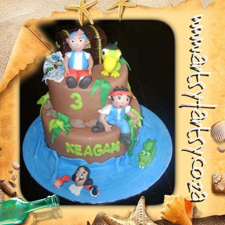 Jake and the Neverland Pirates Cake #jakeandtheneverlandpiratescake