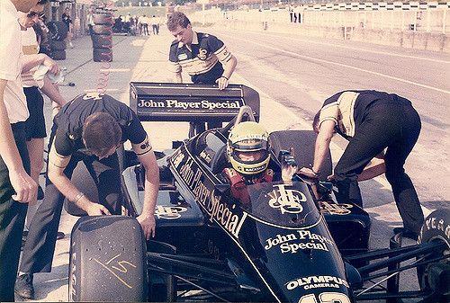 https://flic.kr/p/6mfneU | Ayrton Senna | Ayrton Senna JPS Lotus Renault 97-T Brands Hatch 28th & 29th August 1985