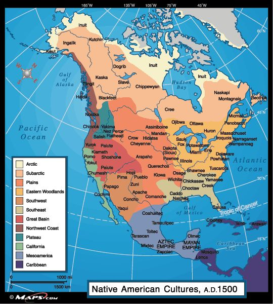 Native american cultures 1500 history north america for North american culture facts