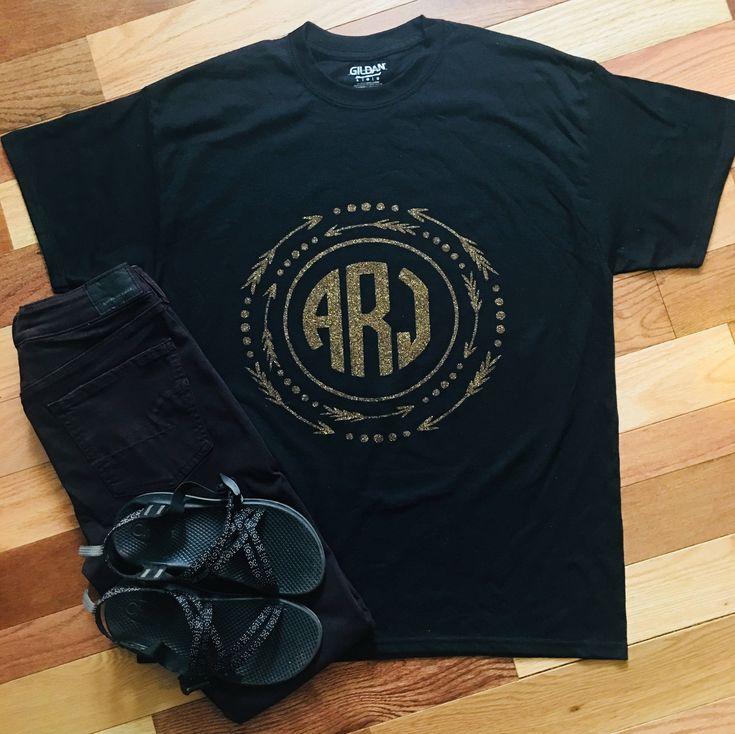 Monogram arrow shirt, arrow monogram shirt, monogram shirt, monogram tee, monogram tshirt, arrow shirt, arrow tee, women's monogram tshirt,