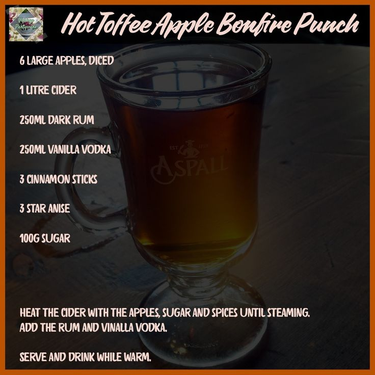 Toffee Apple Punch Recipe | Top 10 Bonfire Night Party Ideas | Guy Fawkes Night blog post from Vintage Partyware | Party props and decoration hire in Norfolk, Cambs and Lincs.