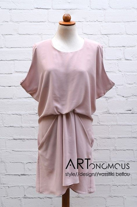 Blush draped dress