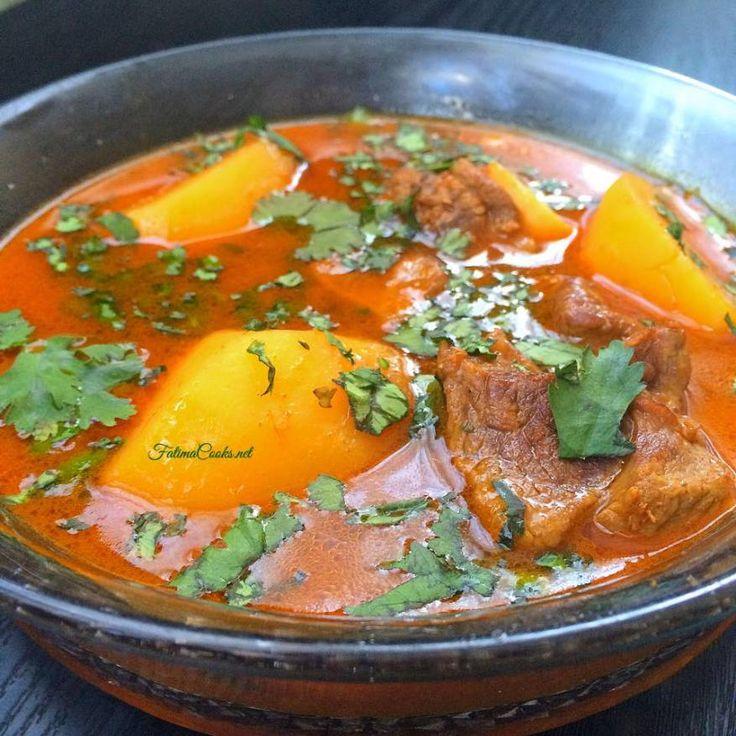 Aloo Gosht Shorba - Pakistani Potato and Lamb Curry - Recipe @ FatimaCooks.net