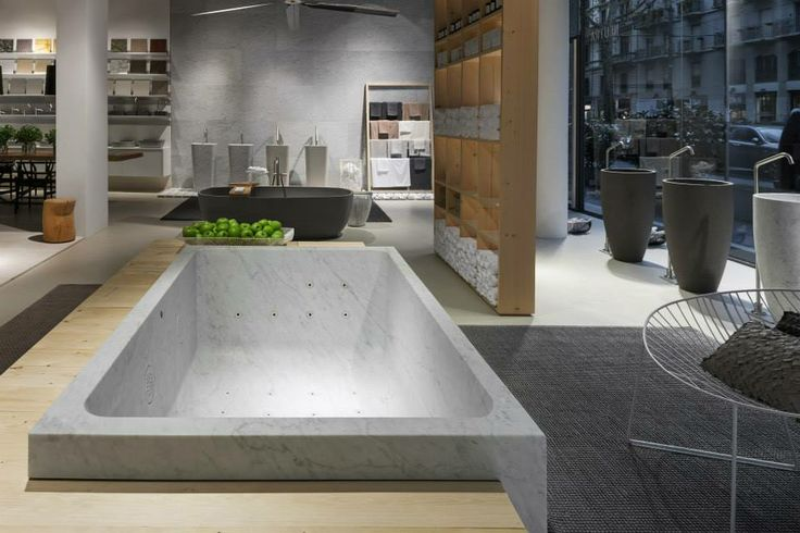NEUTRA Flagship Store in milan - water_wellness_stone. #bathroom #spa #design #bathtube #hydrowell #showcase