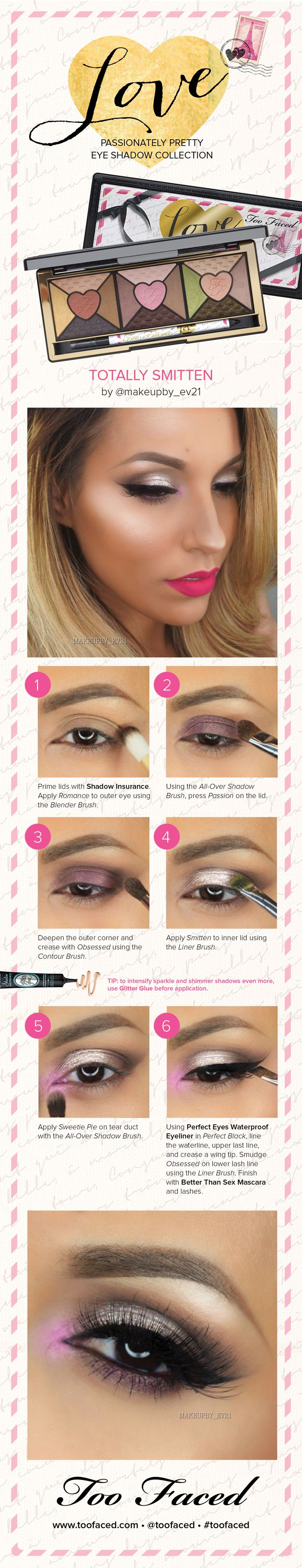 Check out this Sephora-exclusive look from blogger Evelin using the new #TooFaced Love Palette. #Sephora #HowTo