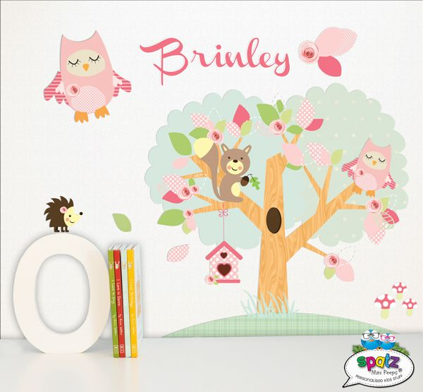 Mini Enchanted Forest - Personalised Wall Art Stickers - Reward Chart