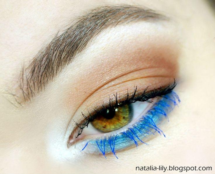 natalia-lily: Beauty Blog: Makijaż: Oczko brąz z niebieskim akcentem & usta Pinkadilly Circus (krok po kroku)