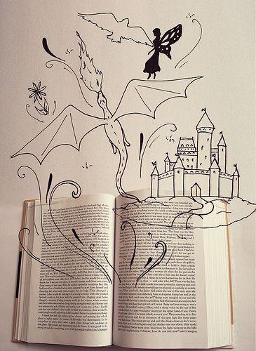 la magia que desprenden los libros. Books are magical (by nikynator1993)