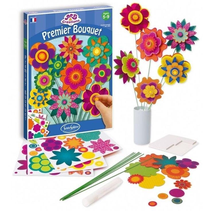 O idee frumoasa de cadou! Cutia contine: - corole multicolore din carton si tije verzi din sarma maleabila - 1 tub de lipici cu paiete - 1 plansa cu adeziv spuma fata dubla