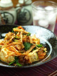 ブタキムトウフ・豚キムチ豆腐 味付けのコツ|魚料理と簡単レシピ