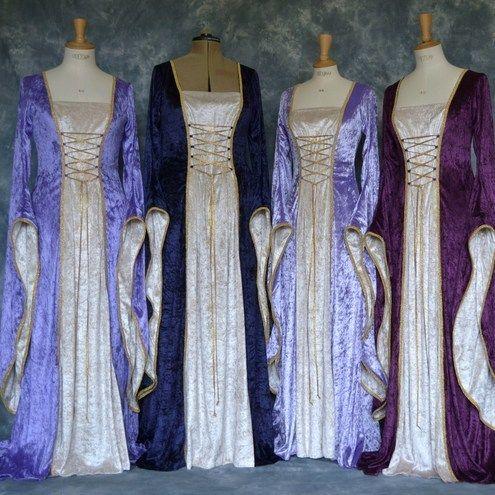 pagan robes   MEDIEVAL/ELVISH/FAERY/FANTASY WEDDING GOWN/ROBE