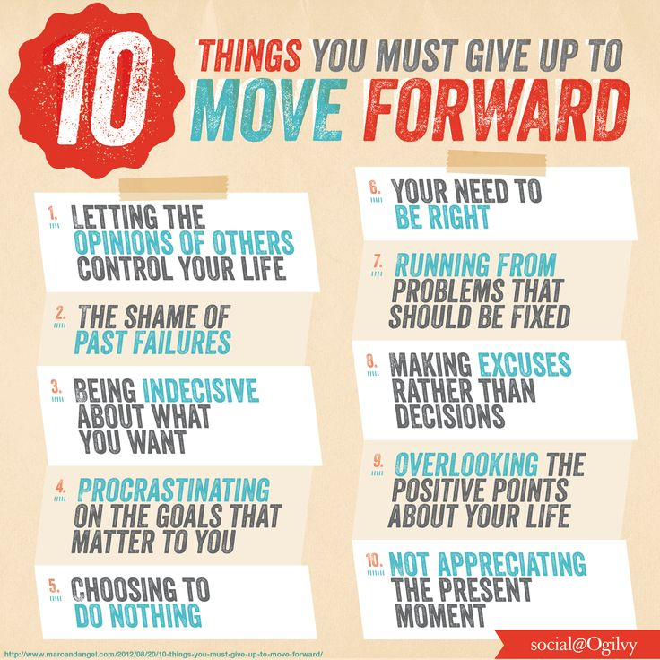 10 Things You Must Give Up To Move Forward. Source: Marc and Angel Hack Life.