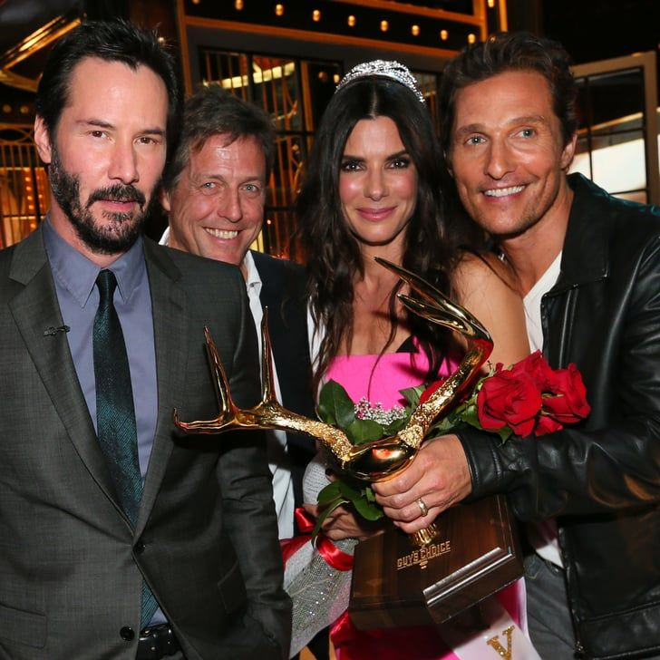 Pin for Later: Why Are Keanu Reeves, Hugh Grant, and Matthew McConaughey Still Crushing on Sandra Bullock?
