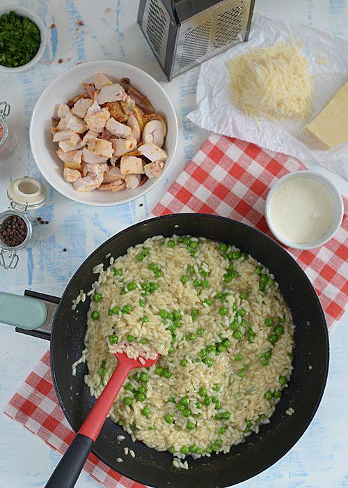 Risotto z groszkiem i kurczakiem - pyszne, proste i szybkie! - etap 8