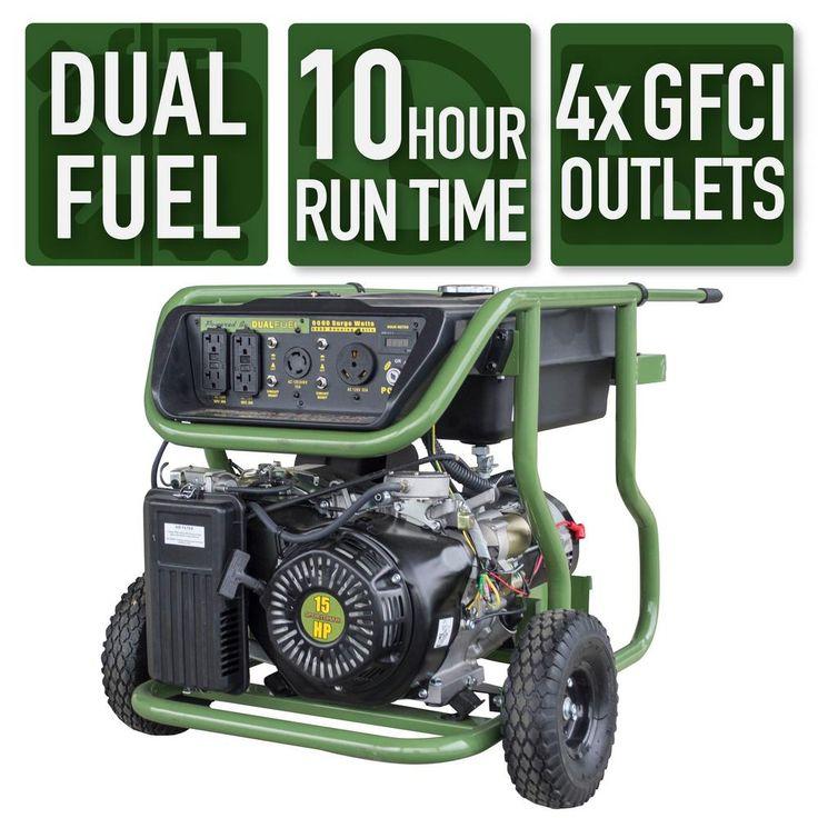 Sportsman 9,000/8,000Watt Dual Fuel Powered Electric