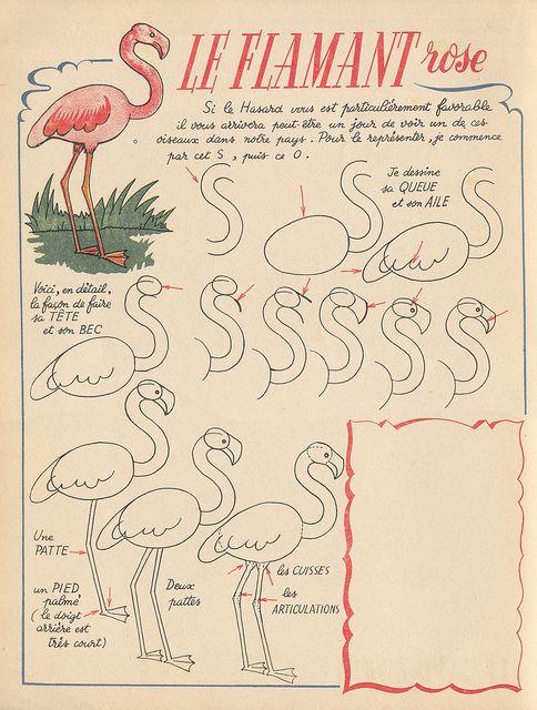 avecmoncrayon p13 flamingos pinterest dibujo dibujar y patrones gr ficos. Black Bedroom Furniture Sets. Home Design Ideas