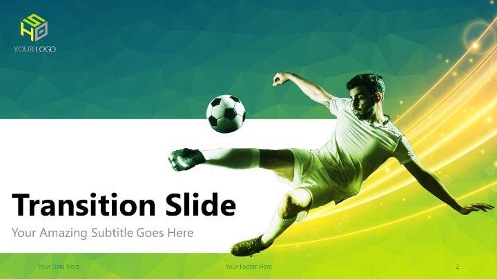 Soccer Modern Powerpoint Template Green Version Career Development Powerpoint Templates Templates