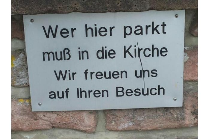 19 Schilder, die beweisen, wie witzig Deutschland ist