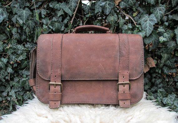 Brown Messenger Bag / Light Brown Shoulder Bag / Leather Saddle Bag / Brown Satchel Bag #transylvanianmonk #leatherbag #shoulderbag