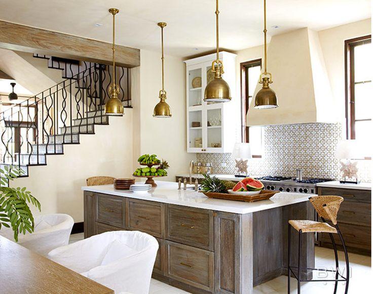 Ann Sacks Nottingham honeycomb tile in a neutral kitchen by Beth Webb - via Atticmag