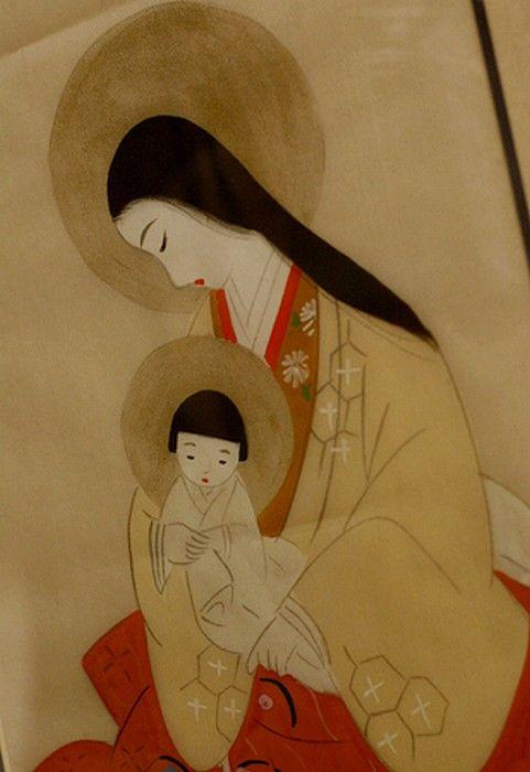 Ieromonah Anatolie,  Hakodate —   Madonna and Child (481×700)