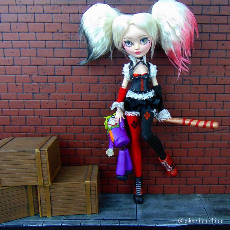 Custom Ooak Ever After High Doll Quot Harley Quinn Quot By