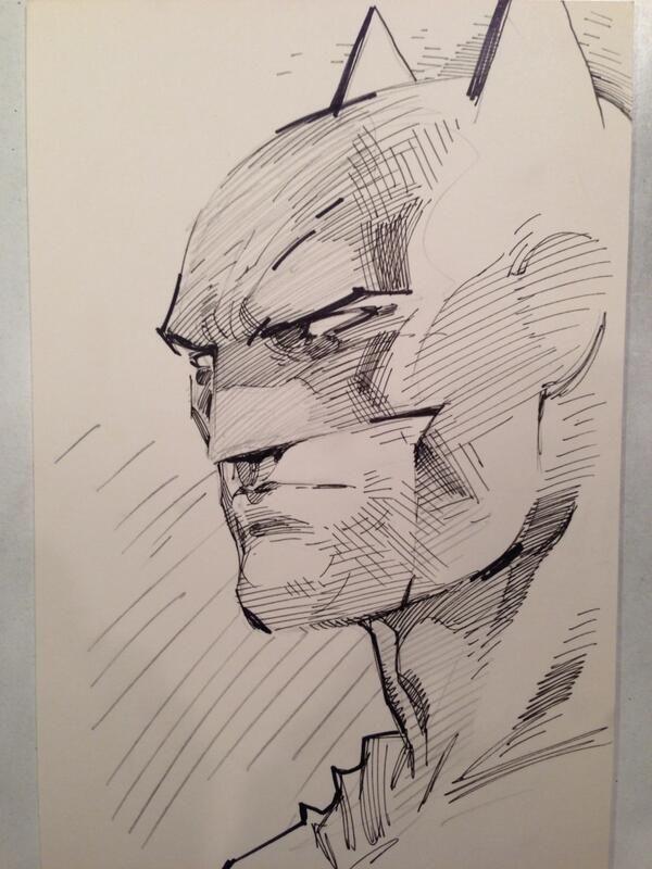 Batman sketch by Jim Lee