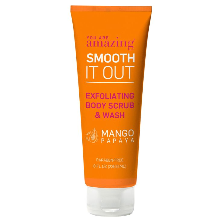 you are Amazing mango papaya exfoliating body scrub & wash - 8 oz