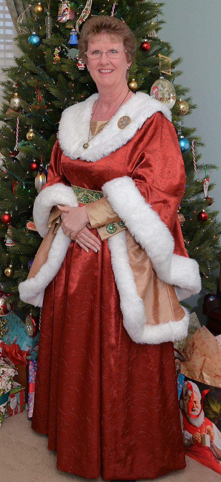 My Quot Houppelande Quot Inspired Mrs Claus Dress Holiday