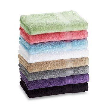 "7-Pack: 27"" x 52"" 100% Cotton Extra-Absorbent Bath Towels 100% cotton Each towel measures 27"" x 52"" Each towel weighs 1lb Machine wash warm with colors. Tumble dry. Do not bleach. Each set includes a random assortment of 7 towels from the following colors: Black, Brown, Light Blue, Blue, Dark Blue, Yellow, Green, Light Green, Red, and Beige Buy two sets and give as a pair as a gift. http://livinggood-entrepeneural.blogspot.com/2014/11/towels-as-gifts.html"