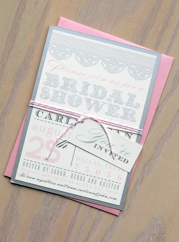 bridal shower keepsake book%0A Blush Pink Bridal Shower Invitations  beaconlane  See More Invites Here   www beaconln