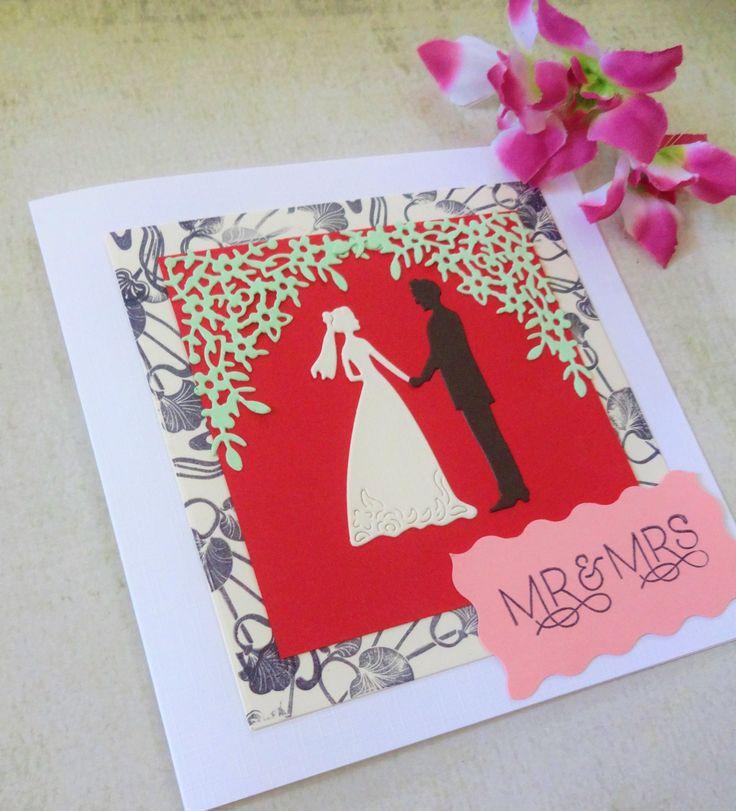 Handmade Sweet Wedding Congratulations Mrmrs Card Wedding Gift