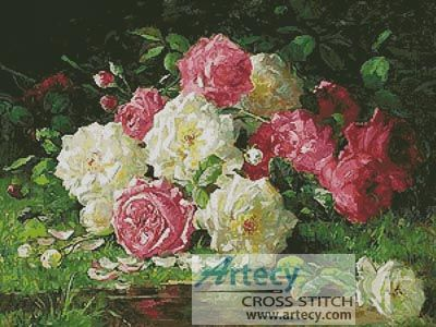 Still Life with Roses 3 Cross Stitch Pattern
