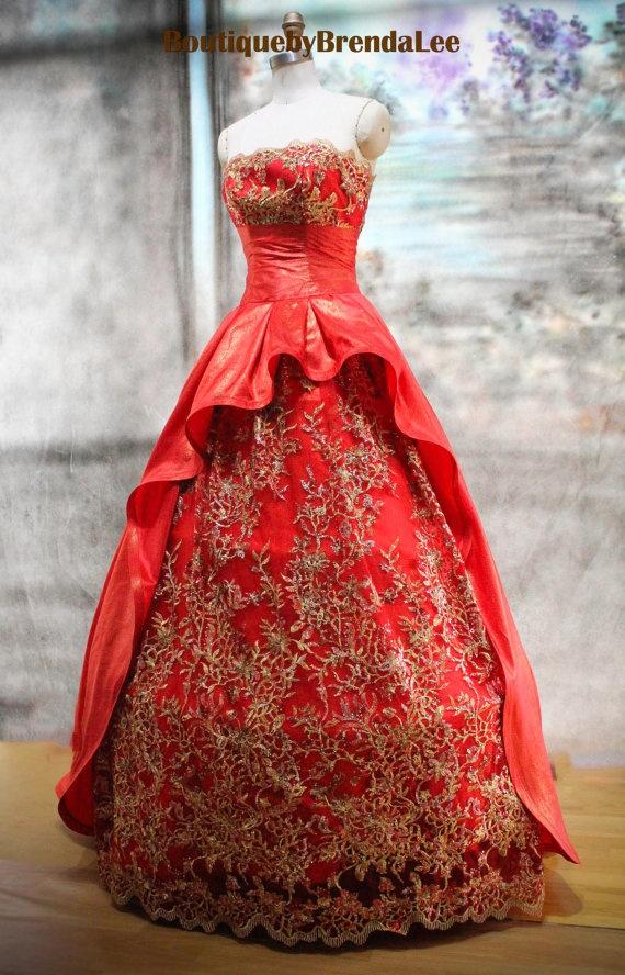 Oriental Shiny Evening Red Dress Japan Kimono Korea Hanbok