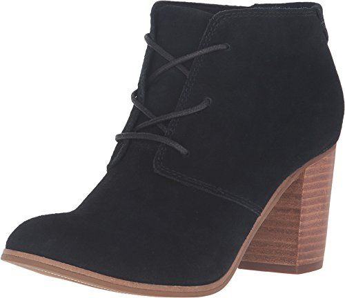 TOMS Womens Lunata LaceUp Bootie Black Suede Boot 12 B M -- Check out this great product.