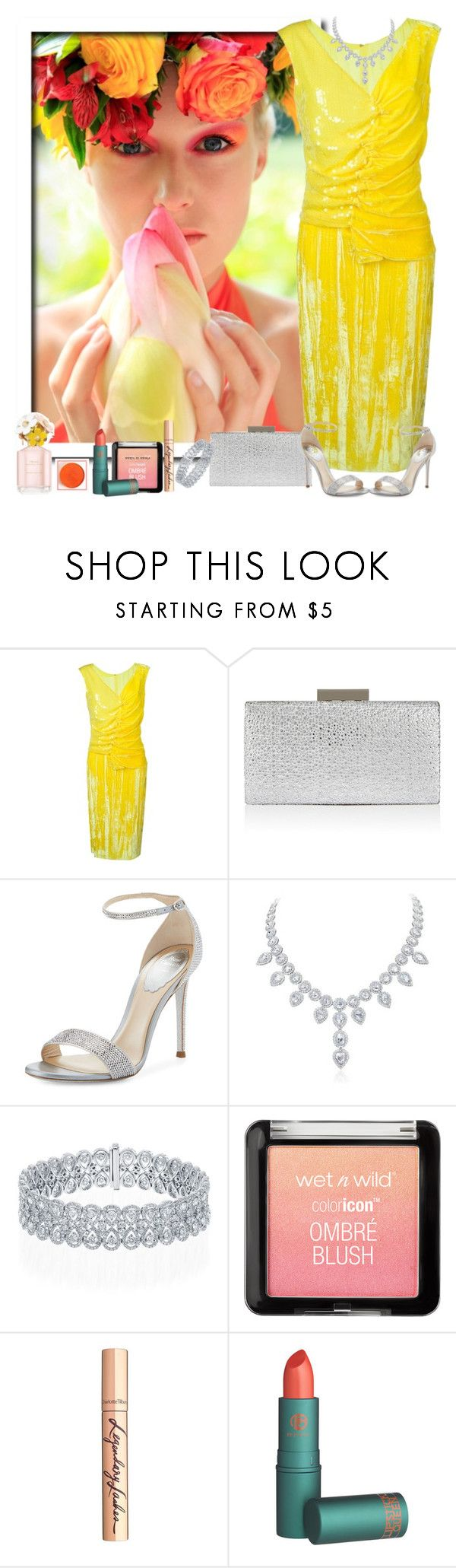 """""""Spring has sprung"""" by stephanielee4 ❤ liked on Polyvore featuring Nina Ricci, Monsoon, René Caovilla, Charlotte Tilbury and Marc Jacobs"""