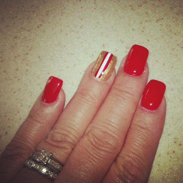 My 49er nails.....    D.Eaton