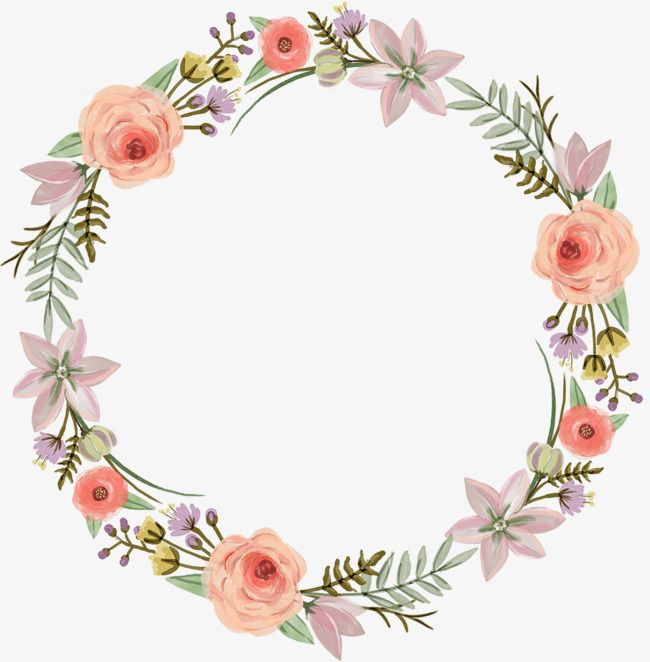 Watercolor Wreaths Watercolor Clipart Cartoon Hand Painted Png And Vector With Transparent Background For Free Download Floral Wreaths Illustration Wreath Watercolor Floral Border Design