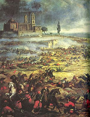 Battle of Puebla  Date8 December 1861 - 21 June 1867  LocationMexico  ResultEstablishment, then downfall, of the Mexican Empire; French withdrawal; Republican victory