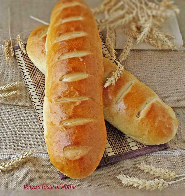 Homemade French Bread http://valyastasteofhome.com/homemade-french-bread