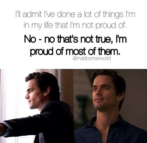 White Collar-  Neal Caffrey in a nut shell!