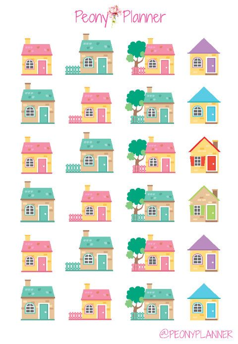 Rent Mortgage House Planner Stickers | Erin Condren, Kikki K, InkWell, Plum Planner, Scrapbook
