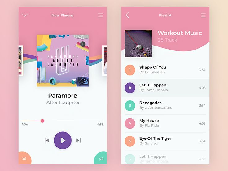 Music App UI by Giga Tamarashvili