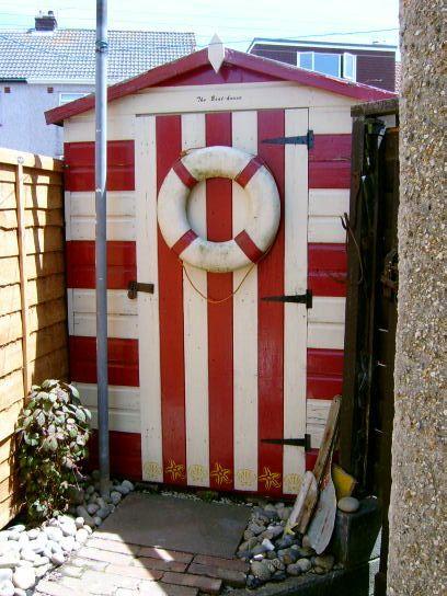 Beach hut shed