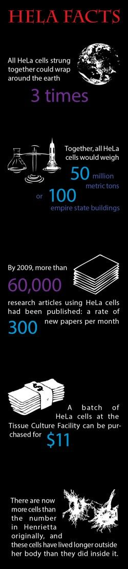 Just a few facts showing just a few of the amazing characteristics of the HeLa cell line.